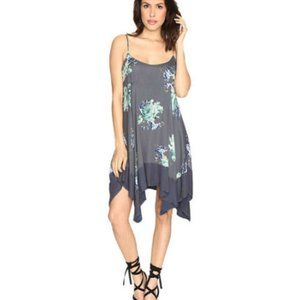 FREE PEOPLE Faded Bloom Slip Dress in Black-S,M,L